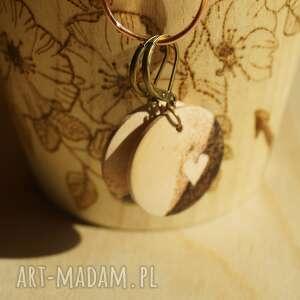 gustowne kolczyki nostalgia mini śliwa - ręcznie wypalane