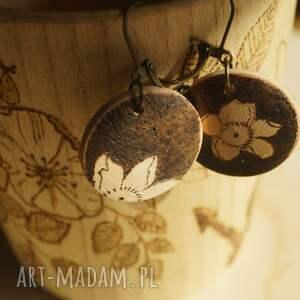 brązowe wypalane mini wiśnia - drewniane