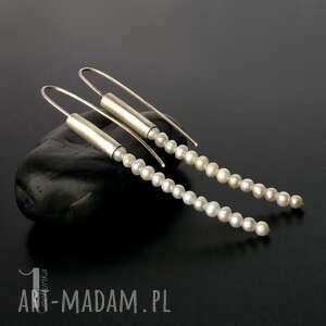 oryginalne kolczyki perły mist i srebrne z perłami