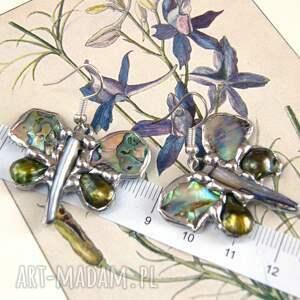 intrygujące biżuteria motylowa kolczyki: motylki tęczowe