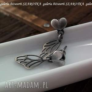 motyl motylove kolczyki ze srebra