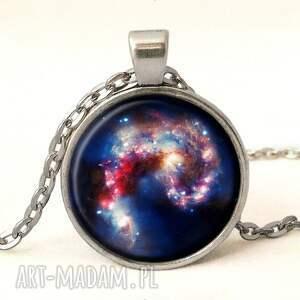 nebula kolczyki niebieskie - małe wiszące