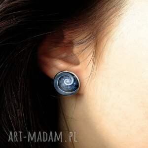 turkusowe kolczyki spirala niebieska