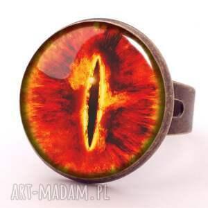 kolczyki pierścieni oko saurona - duże wiszące