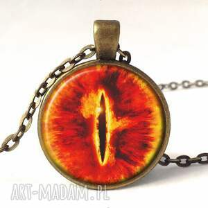 oko kolczyki pomarańczowe saurona - duże wiszące