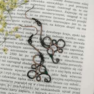 kolczyki długie ornament green