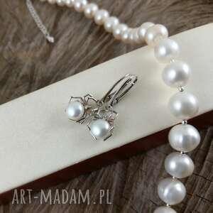 onyksela Pająki z białą perłą - perła