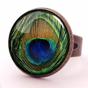 kolczyki pawie oko - duże wiszące