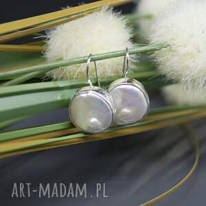unikatowe kolczyki perła słonowodna -