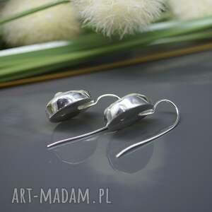 wiszące kolczyki perła słonowodna -