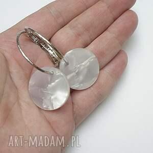 miedź perle - circle - kolczyki