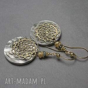 szare srebro pozłacane perle -rosette vol. 2 /grey/