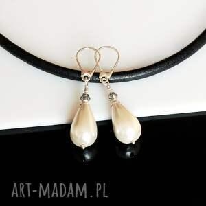 niebanalne perłowe kropelki - kolczyki