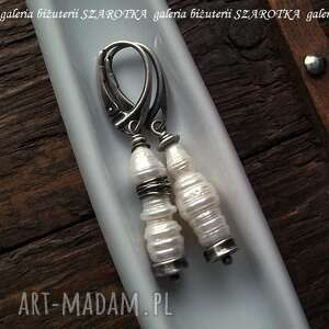 kolczyki perła perły industrialne