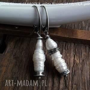 słodkowodna kolczyki perły industrialne
