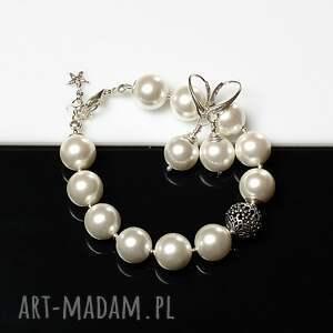 nietuzinkowe sea shell perły seashell - kolczyki