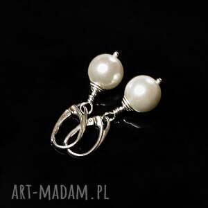 nietuzinkowe perły seashell - kolczyki