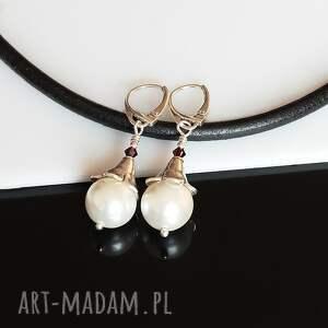 kolczyki seashell perły -