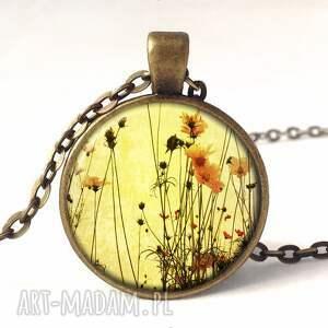 polne kolczyki żółte kwiaty - małe