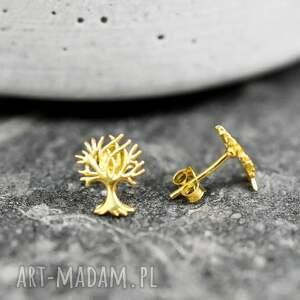 """kolczyki życia 925 pozłacane mini """"drzewo"""