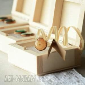 unikatowe minimalizm proste drewniane kolczyki