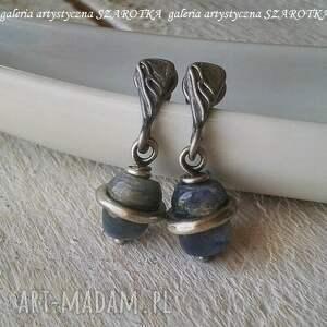 srebro oksydowane kolczyki (sztyfty) wykonane z 6 mm oponek