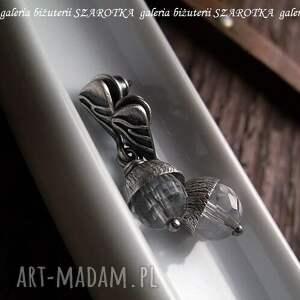 srebro pure kolczyki z kryształu górskiego
