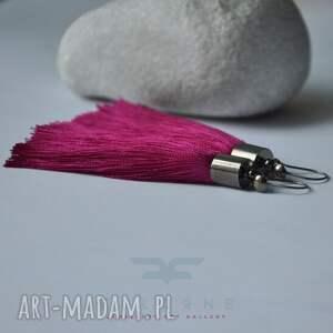 hand made kolczyki purpurowa kaskada