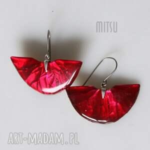 hand-made kolczyki czerwone red diva