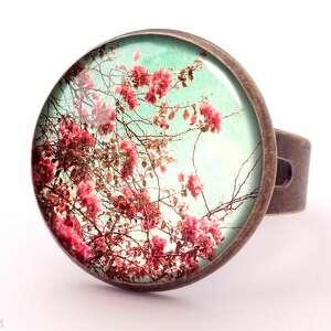 kolczyki kwiaty retro - małe