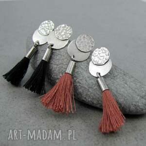 kolczyki chwosty rock black tassel