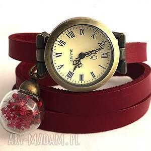 kolczyki wiszące romantyczna czerwień -