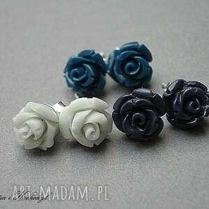 romantyczne kolczyki róże - montana