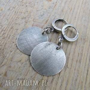 kolczyki ze srebra satynowe koła