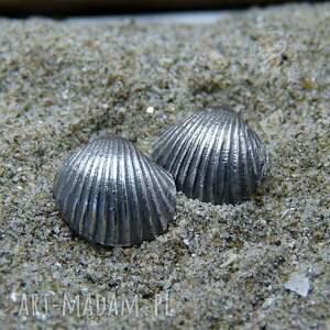 kolczyki wkrętki scallop earrings