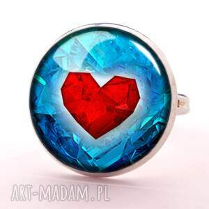 kolczyki serce serca - małe wiszące
