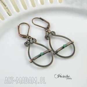 modne kolczyki simple green - z zielonym