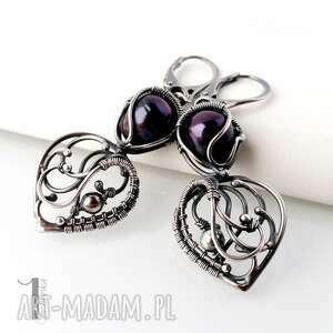 srebrne kolczyki perły skadi - z perłami