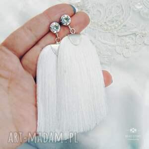 swarovski kolczyki ślubne z chwostem