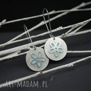 kolczyki srebrne wiosenny kwiat