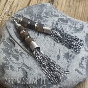 kolczyki bursztyn-bałtycki srebrne z bursztynami