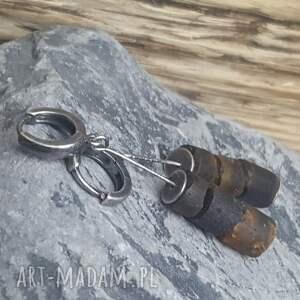 kolczyki bursztyny-prezent srebrne z bursztynem