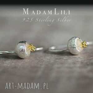 żółte kolczyki 925 srebrne dzwoneczki