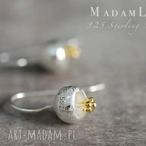 modne kolczyki 925 srebrne dzwoneczki