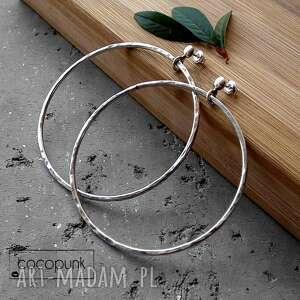 intrygujące koła kolczyki srebrne duże -6,5cm