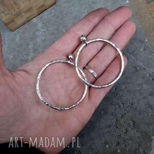 srebrne-kolczyki kolczyki 4,5cm srebrne koła