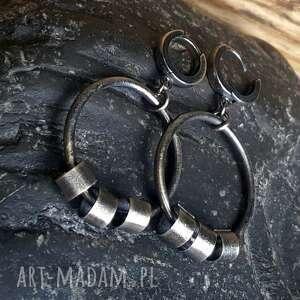 Kolczyki srebrne koła - na prezent metaloplastyka