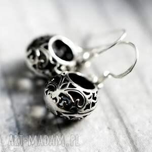 kolczyki orentalne 925 srebrne mini ornament