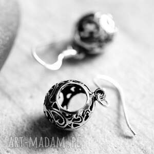 wyjątkowe kolczyki orient 925 srebrne mini ornament