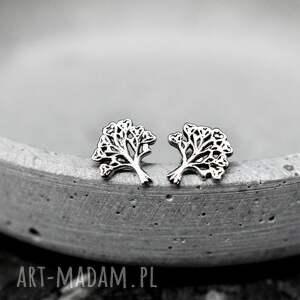 """kolczyki życia 925 srebrne mini """"drzewo"""